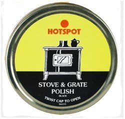 Tin of Black stove polish
