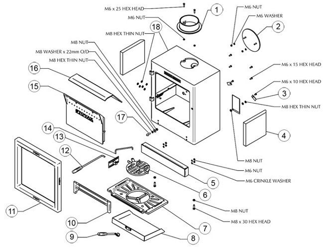 Exploded Diagram For Stovax View 8 Stove
