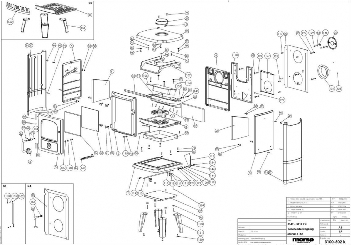 exploded diagram for morso badger cleanheat stove