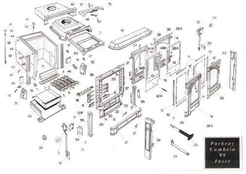 Exploded Diagram For Parkray Cumbria Stove